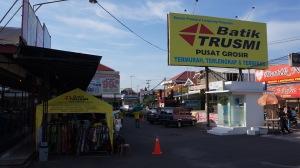 main street in Kampung Batik Trusmi