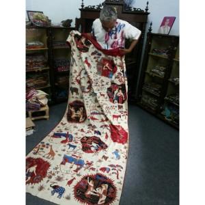 Mr. Katura's handmade Jaka Tarub batik