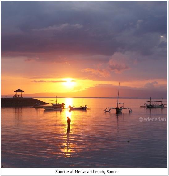 sunrise mertasari beach sanur bali