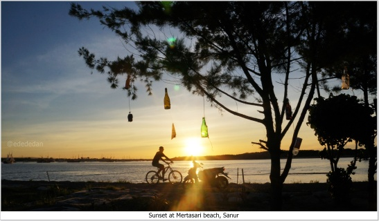 sunset mertasari beach sanur bali