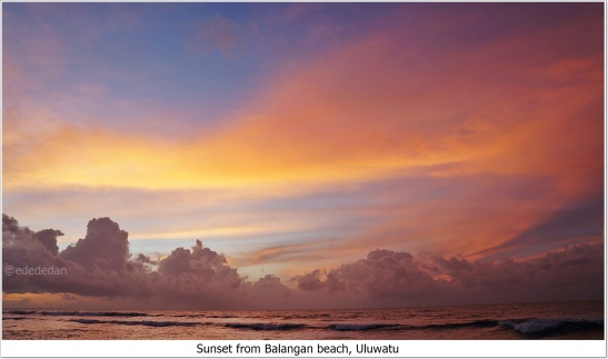 balangan beach sunset bali