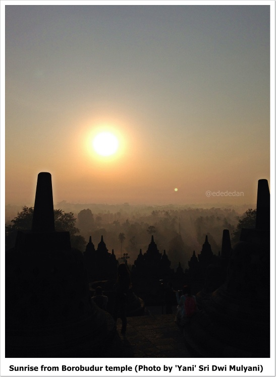 sunrise borobudur temple edna