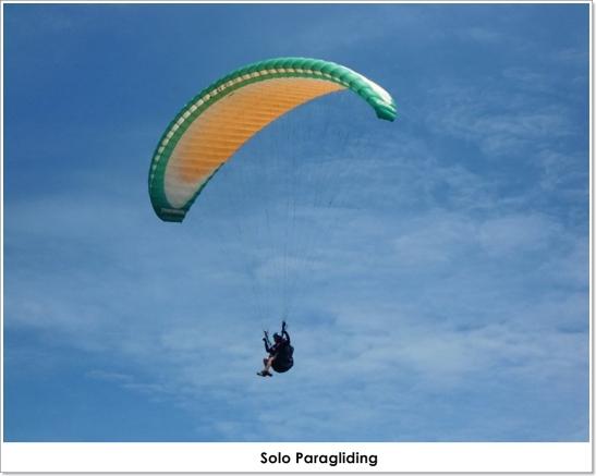 solo paragliding